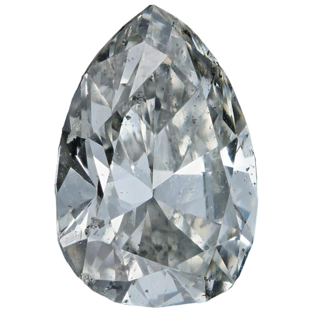 Loose Diamond, Pear Cut 1.40 Carat GIA SI2 J Solitaire