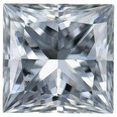Loose Diamond, Princess Cut 1.49 Carat GIA SI2 G Solitaire