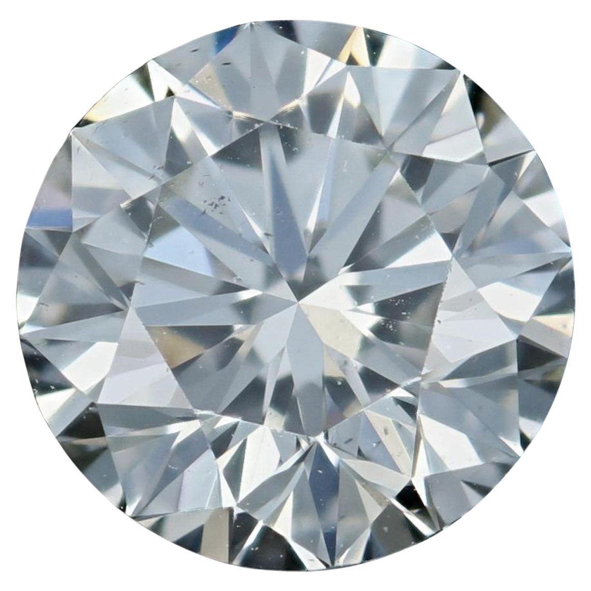 Loose Diamond, Round Brilliant Cut 1.25ct GIA J SI1 Triple Excellent Solitaire
