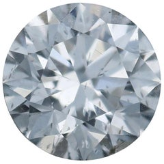 Loose Diamond, Round Brilliant Cut 1.63 Carat GIA G I1 Excellent Cut Solitaire