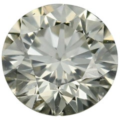Loose Diamond, Round Brilliant Cut 1.76 Carat GIA S-T SI2 Solitaire