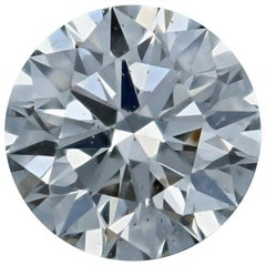 Loose Diamond Round Brilliant Cut .43 Carat GIA H SI1 Triple Excellent Solitaire