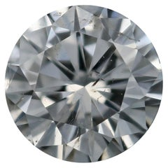 Loose Diamond, Round Brilliant Cut .73 Carat GIA G I1 Solitaire