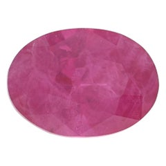 Loose Ruby, Oval Cut .95 Carat Pinkish Red Solitaire