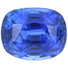 Loose Sapphire, Cushion Cut 2.56 Carat AGL Blue Solitaire