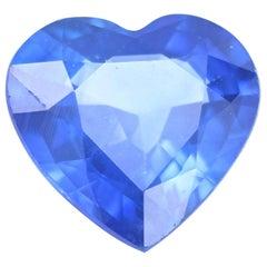Loose Sapphire, Heart Cut 1.65 Carat Blue Solitaire