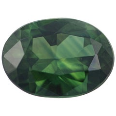 Loose Sapphire, Oval Cut 1.22 Carat Green Solitaire
