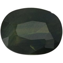 Loose Sapphire, Oval Cut 1.99 Carat Green Solitaire