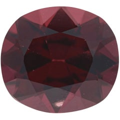 Loose Spinel, Cushion Cut 5.04 Carat Red Solitaire