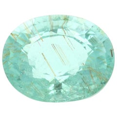 Loose Tourmaline, Oval Cut 2.82 Carat GIA Green Solitaire
