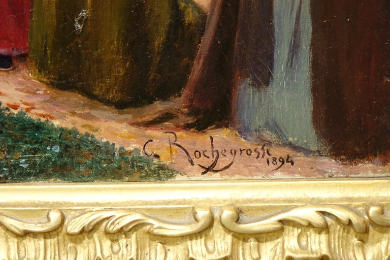 Looting of a Gallo-Roman Villa, Painting Signed Georges Rochegrosse In Good Condition For Sale In Paris, FR