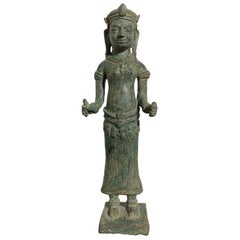 Lopburi Style Cast Bronze Figure of Uma, 13th-14th Century, Thailand
