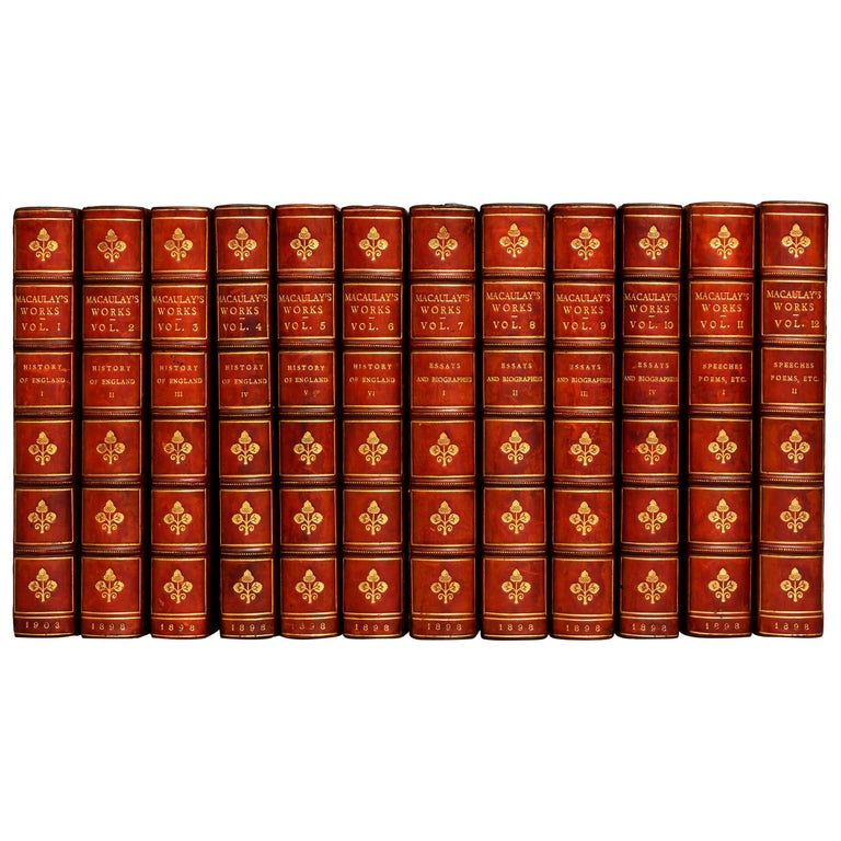 Lord Macaulay, The Works For Sale