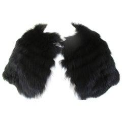 Lord & Tailor Black Fox Fur Stole