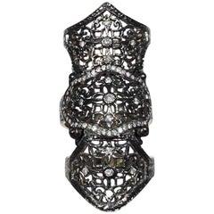 Loree Rodkin 18k Rhodium Schild Ring Weißgold mit Diamanten