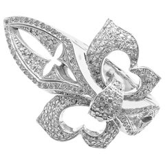 Loree Rodkin Diamond Fleur-de-Lis White Gold Ring