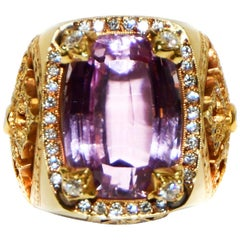 Loree Rodkin Gothic Collection Diamond and Emerald Cut Kunzite Ring