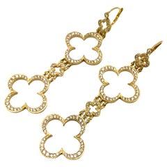 Loree Rodkin Large Diamond Cross Yellow Gold Earrings