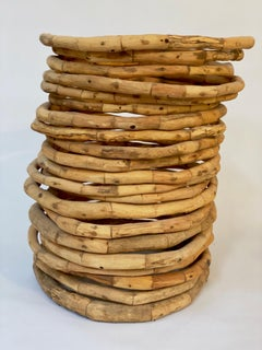 Wood Sculpture, 336 pieces, 21 rings/circles : 'Chlorophyll'