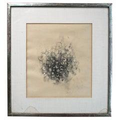Loren Maciver 1940s Drawing Still Life of Berries