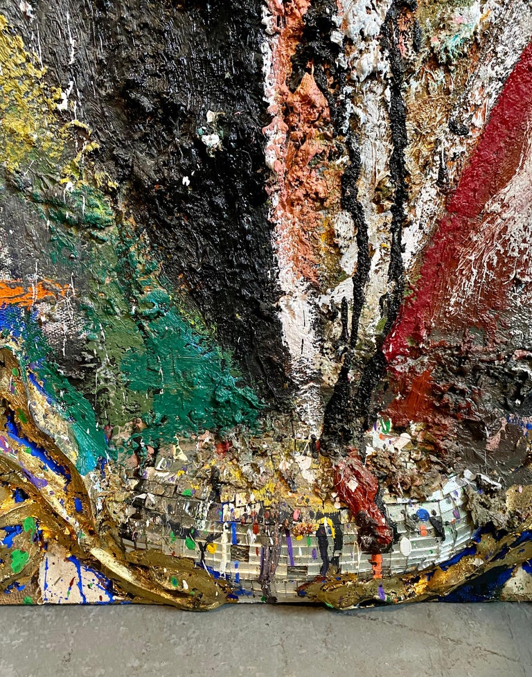 Mixed Media Neo Expressionist Collage Assemblage Painting Sculpture Art Brut For Sale 8