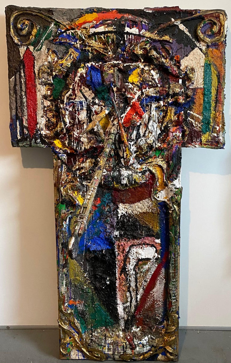 Mixed Media Neo Expressionist Collage Assemblage Painting Sculpture Art Brut - Neo-Expressionist Mixed Media Art by Loren Munk
