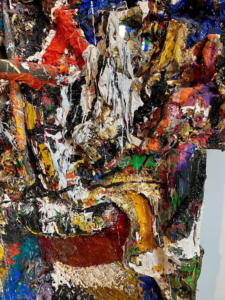 Mixed Media Neo Expressionist Collage Assemblage Painting Sculpture Art Brut For Sale 4