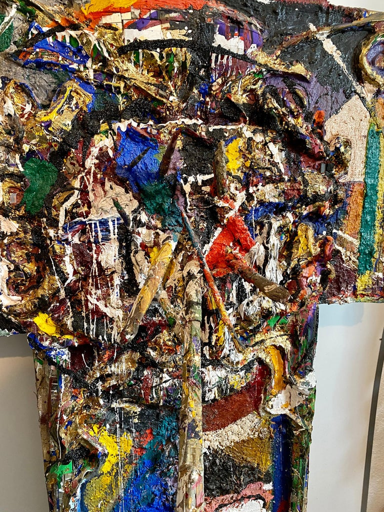 Mixed Media Neo Expressionist Collage Assemblage Painting Sculpture Art Brut For Sale 6