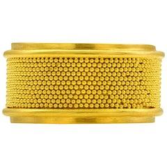 Loren Nicole 22 Karat Yellow Gold Granulation Silken Band Ring
