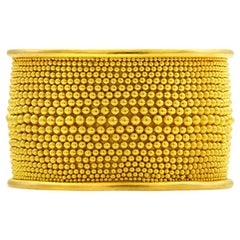 Loren Nicole 22 Karat Yellow Gold Granulation Slither Band Ring