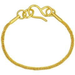 Loren Nicole 22k Gold Woven Handwoven Ancient Greek Chain Bracelet