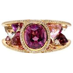 Lorenz Bäumer Multi-Color Gemstone and Diamond Ring