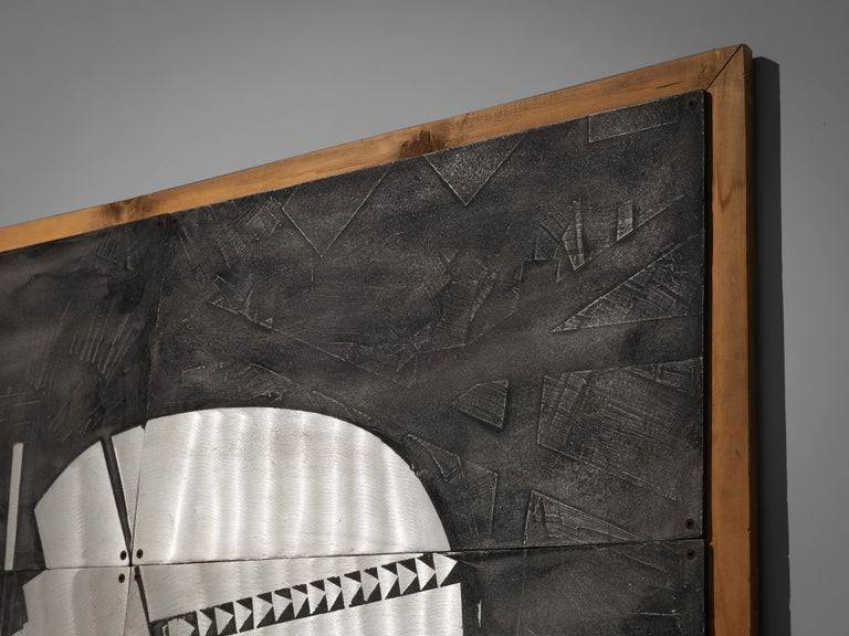 Lorenzo Burchiellaro Abstract Wall Panel in Aluminum and Wood For Sale 5