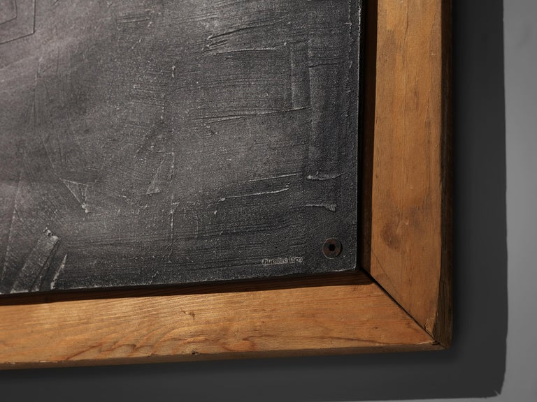 Lorenzo Burchiellaro Abstract Wall Panel in Aluminum and Wood For Sale 6