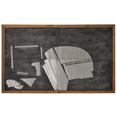 Lorenzo Burchiellaro Abstract Wall Panel in Aluminum and Wood