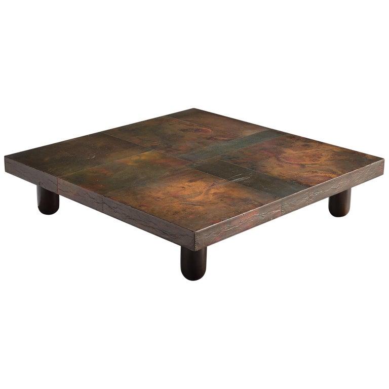 Lorenzo Burchiellaro Handcrafted Coffee Table in Copper For Sale