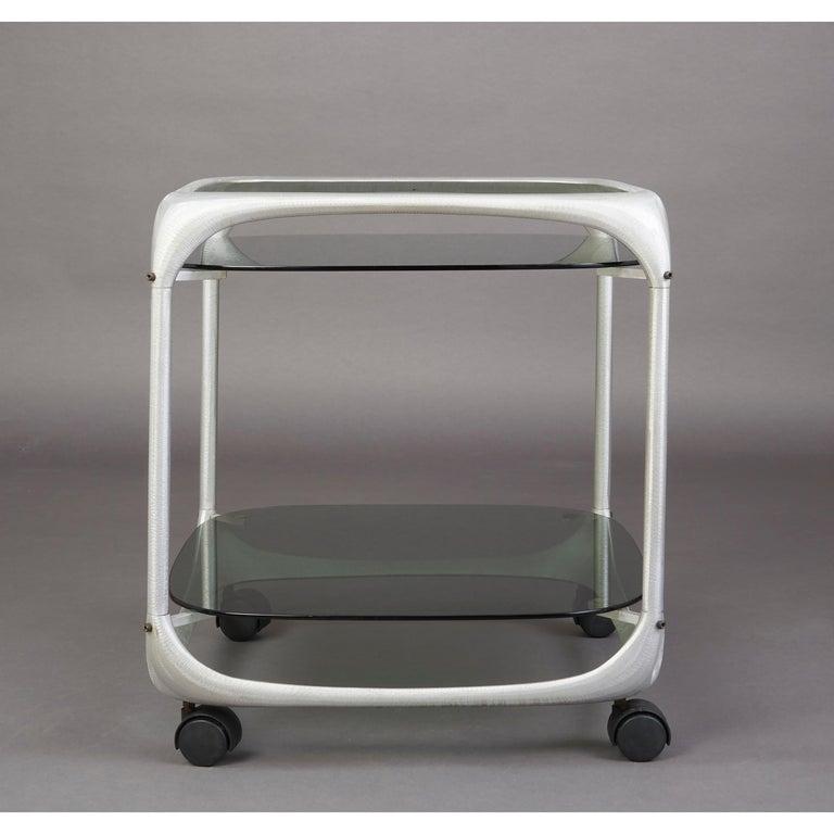 Mid-20th Century Lorenzo Burchiellaro Rolling Bar Cart, Italy, 1960s For Sale