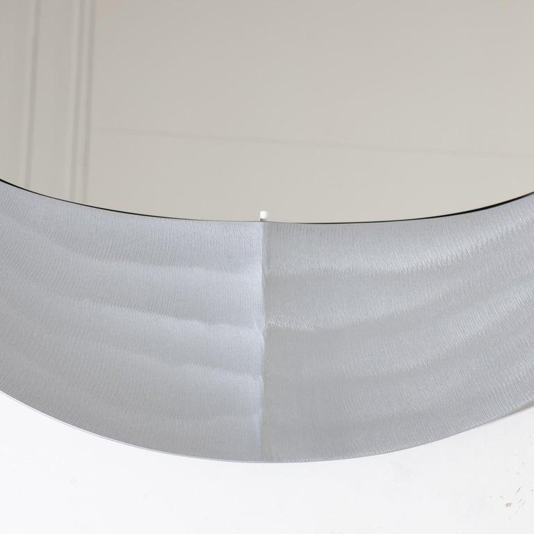 Lorenzo Burchiellaro Round Metal Wall Mirror, Italy, 1970s 1