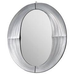 Lorenzo Burchiellaro Wall Mirror 'Cuccaro' in Aluminum