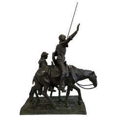 """Lorenzo Coullaut Valera """"Don Quijote and Sancho Panza"""" Signed"""