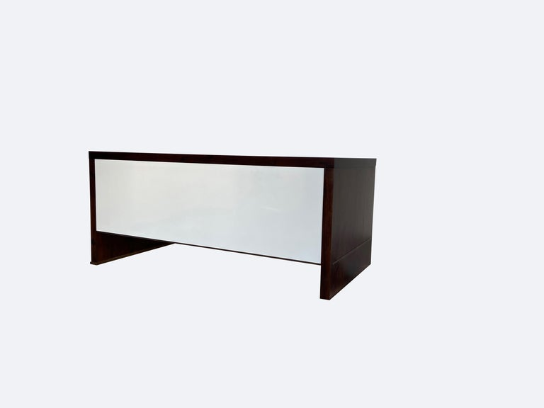 Lorenzo Desk in Argentine Rosewood, Bronze and White Lacquer from Costantini For Sale 6