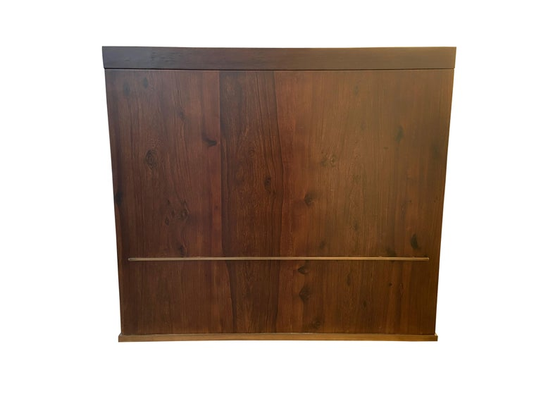 Wood Lorenzo Desk in Argentine Rosewood, Bronze and White Lacquer from Costantini For Sale