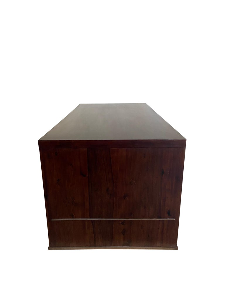 Lorenzo Desk in Argentine Rosewood, Bronze and White Lacquer from Costantini For Sale 1