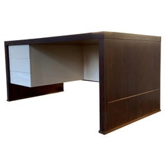 Lorenzo Desk in Argentine Rosewood, Bronze and White Lacquer from Costantini