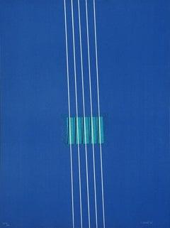 Purple - Original Lithograph by Lorenzo Indrimi - 1970 ca.