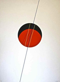 Red Ball - Original Lithograph by Lorenzo Indrimi - 1970 ca.