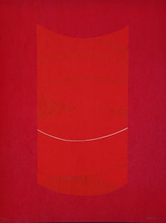 Red One - Original Lithograph by Lorenzo Indrimi - 1970 ca.