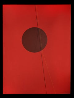 Red Six II - Original Lithograph by Lorenzo Indrimi - 1970 ca.