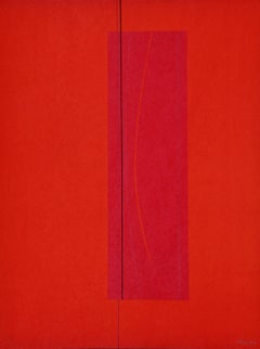 Red Six - Original Lithograph by Lorenzo Indrimi - 1970 ca.