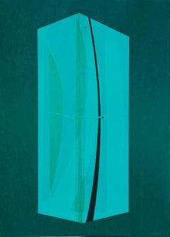 Solid Green - Original Lithograph by Lorenzo Indrimi - 1970 ca.
